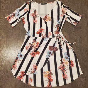 Floral V-neck Wrap Dress (UK 10)